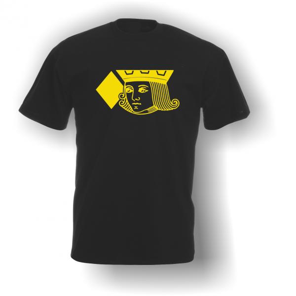 Jack of Diamonds T-Shirt Black Yellow