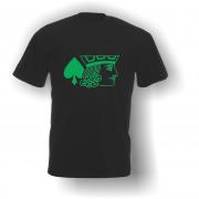 Jack of Spades T-Shirt Black Green