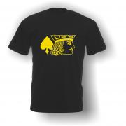 Jack of Spades T-Shirt Black Yellow