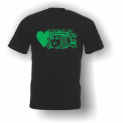 King of Hearts T-Shirt Black Green
