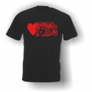 King of Hearts T-Shirt Black Red