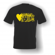 King of Hearts T-Shirt Black Yellow