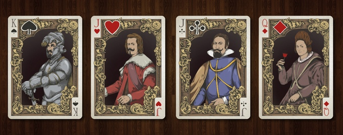 Medieval Playing Cards Gold Edition Courts