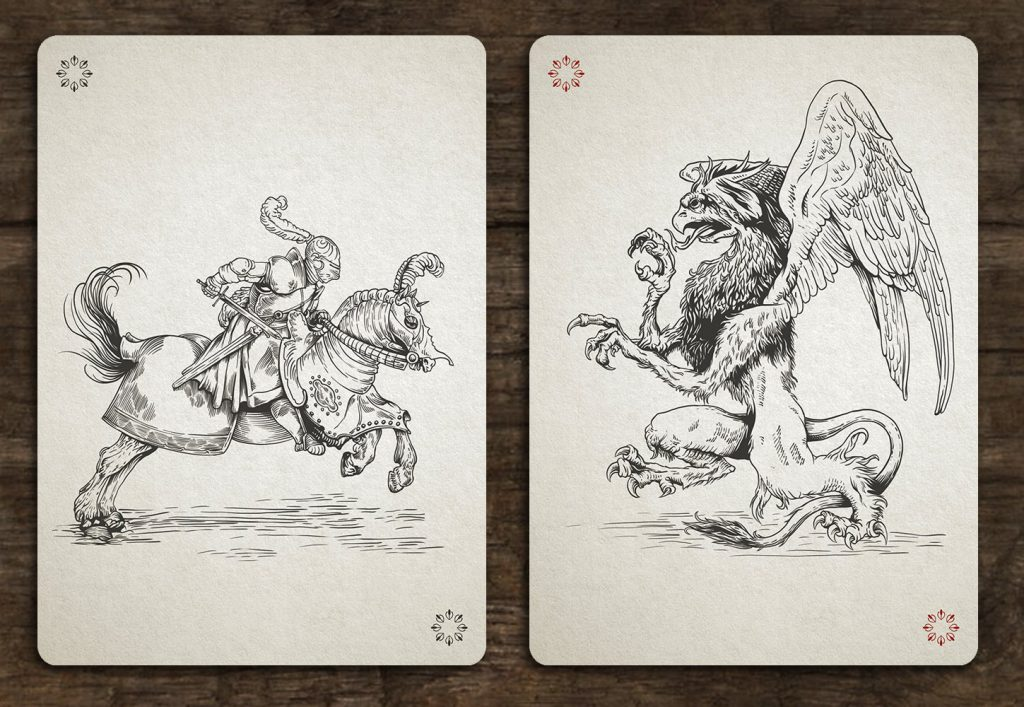 Medieval Playing Cards Jokers