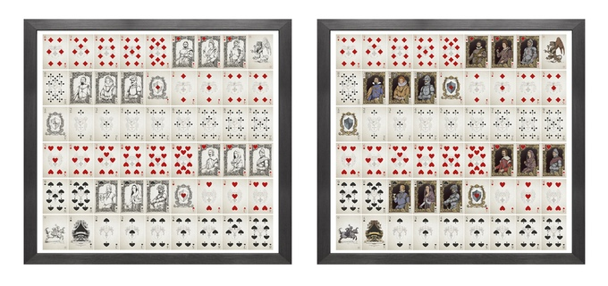 Medieval Playing Cards Uncut Sheets