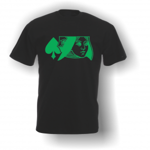 Queen of Spades T-Shirt Black Green