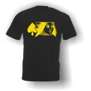 Queen of Spades T-Shirt Black Yellow