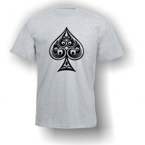 Spade Playing Card Pip T-Shirt Grey