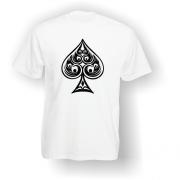 Spade Playing Card Pip T-Shirt White