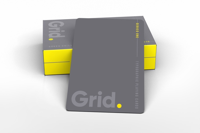 Grid Playing Cards back and tuck